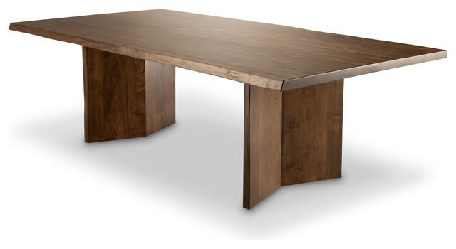 "Arcadia Live Edge Dining Table, Brown Cherry, 48""x120"""