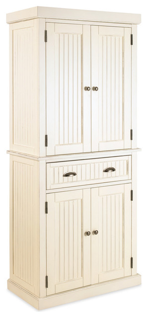nantucket pantry white distressed
