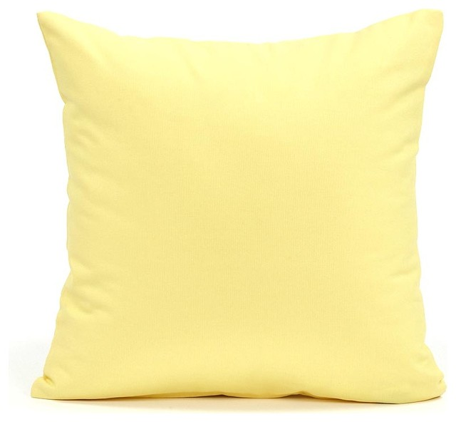 Solid Yellow Accent Pillow Cover Contemporary