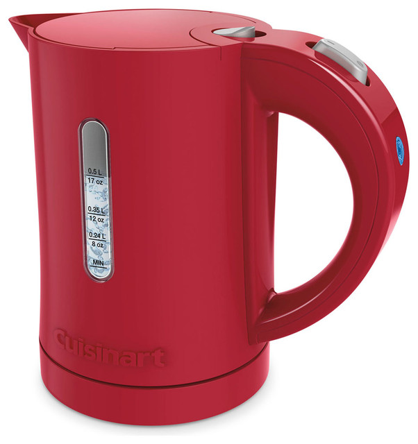 Quickettle Compact Plastic Electric Kettle, Red.