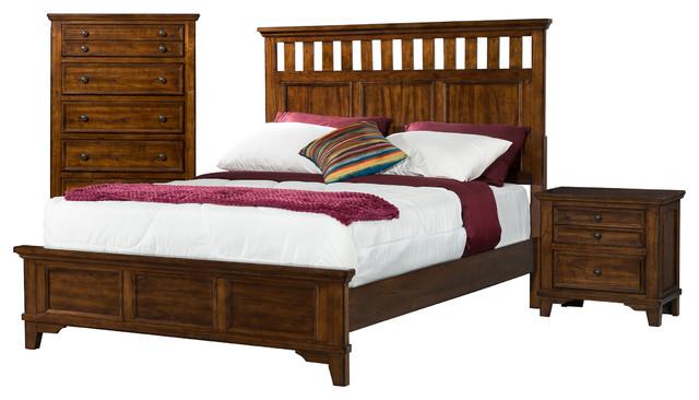 warren full 3 piece set with power craftsman bedroom