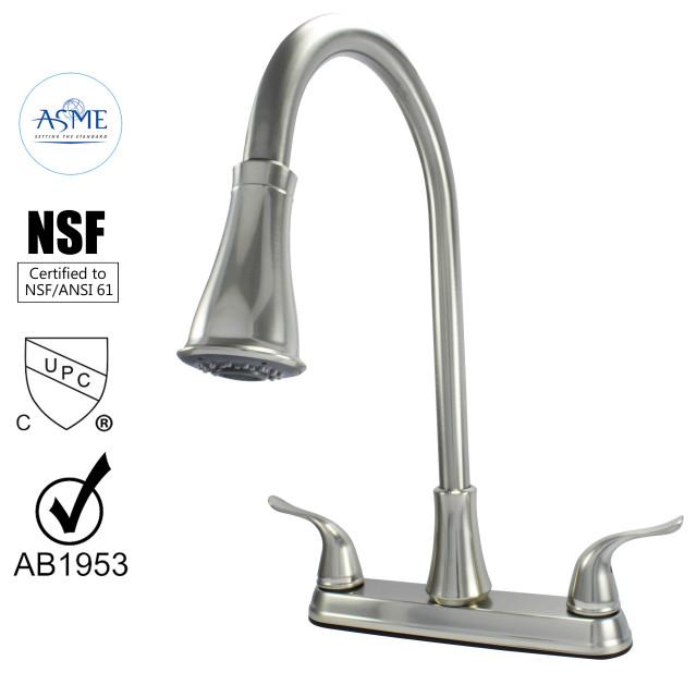 Wasserman 22157143 - Two Handle High Arc Pulldown Kitchen Faucet