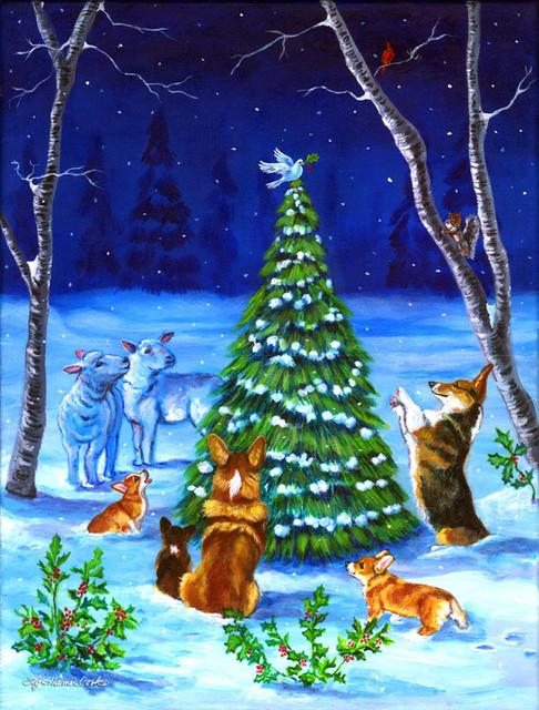 corgi christmas peace flag canvas house size 7304chf contemporary outdoor holiday decorations - Peace Outdoor Christmas Decorations