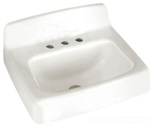American Standard Regalyn 20 X18 Cast Iron Wall Hung Sink