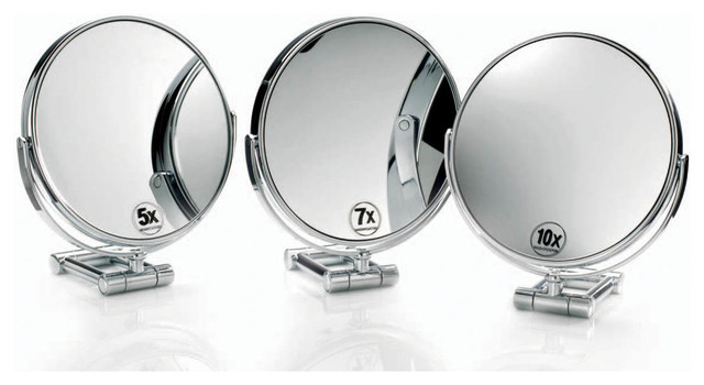 Smile Magnifying Mirror in Chrome 10x contemporary makeup mirrors. Smile Magnifying Mirror in Chrome 10x   Contemporary   Makeup