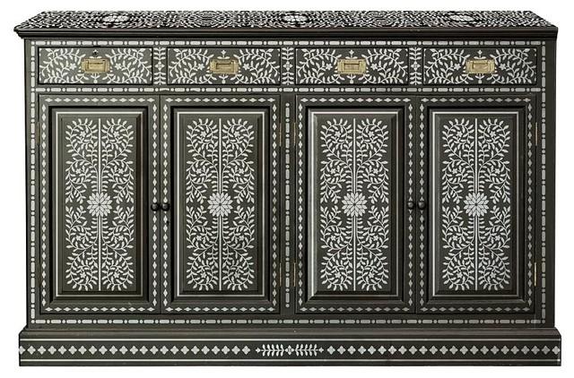 Priya Bone Inlay Stencil, DIY Bone Inlay Designs for Furniture Makeover - Mediterranean - Wall Stencils - by Cutting Edge Stencils
