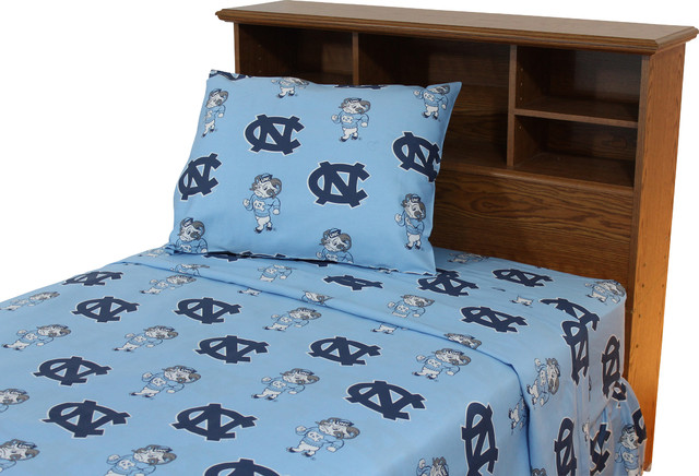 North Carolina Tar Heels Printed Sheet Set Twin Solid