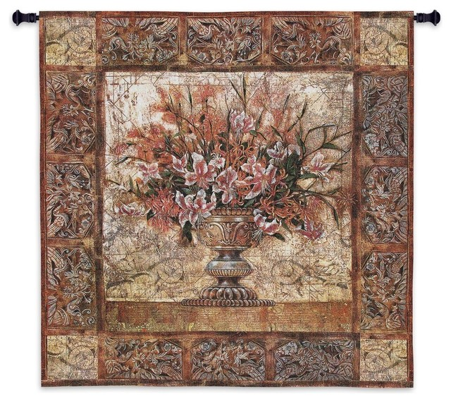 Floral Tapestry Wall Tapestry - Traditional - Tapestries ...