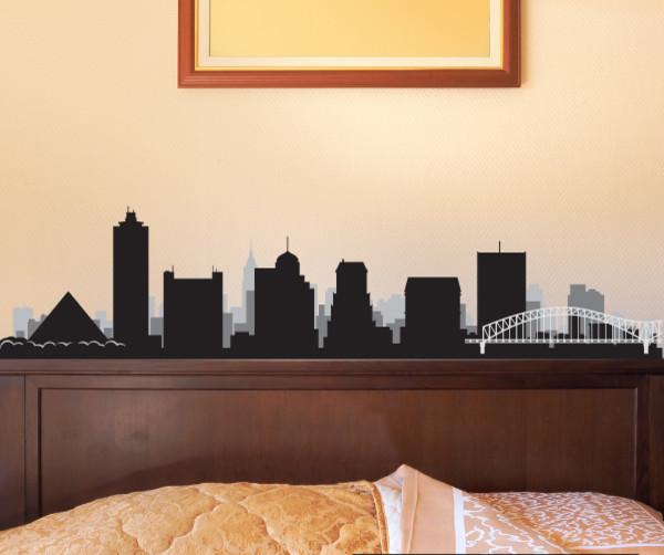 Memphis Tennessee Skyline Vinyl Wall Decal Or Car Sticker