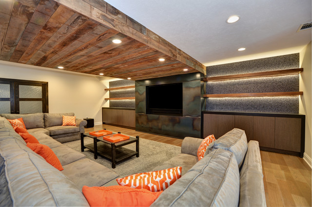 Mid-sized mountain style home design photo in Other