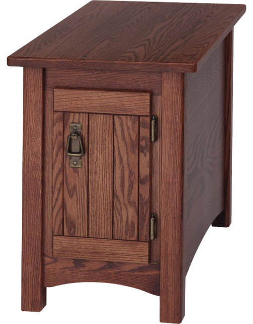 Solid Oak Mission Style Chair Side Table Traditional Side Tables And End Tables By The Oak