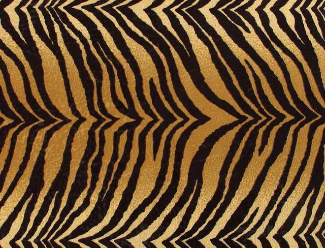 Bengal Tiger Faux Fur Upholstery Fabric Contemporary
