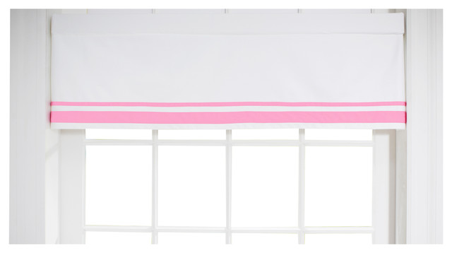 Triboro Just Born Window Valance, Pink.