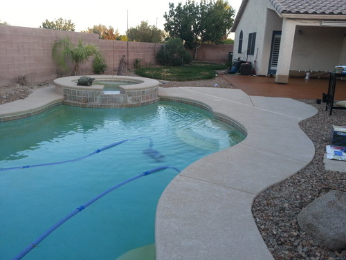 Pool Deck Stain Color