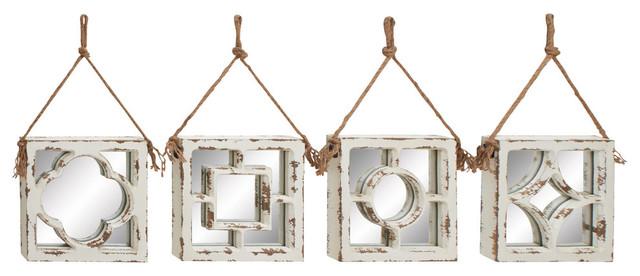 Millie 4-Piece Wood Wall Mirror Set.
