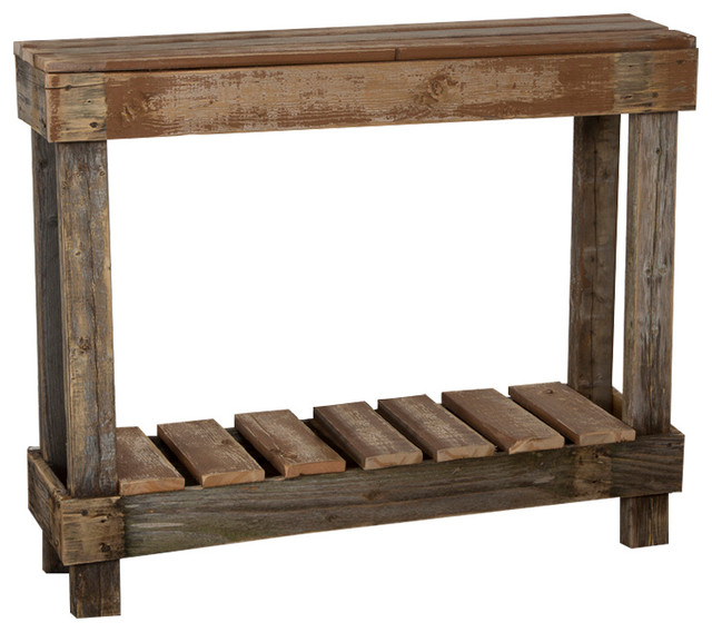 Barnwood Entry Table Farmhouse Console Tables By