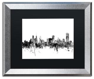 michael tompsett 39 buffalo new york skyline b w 39 matted framed art