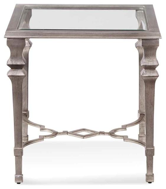 Bassett Mirror Company Sylvia Square End Table Traditional