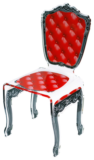 Chair, Capiton, Red by ACRILA