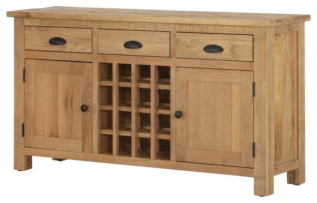 Oak 2-Door Wine Cabinet