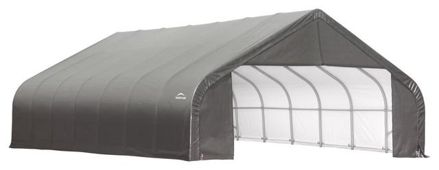 Shelter Logic Outdoor Sheltercoat Garage 28&x27;x24&x27;x20&x27;, Peak Standard, Gray.