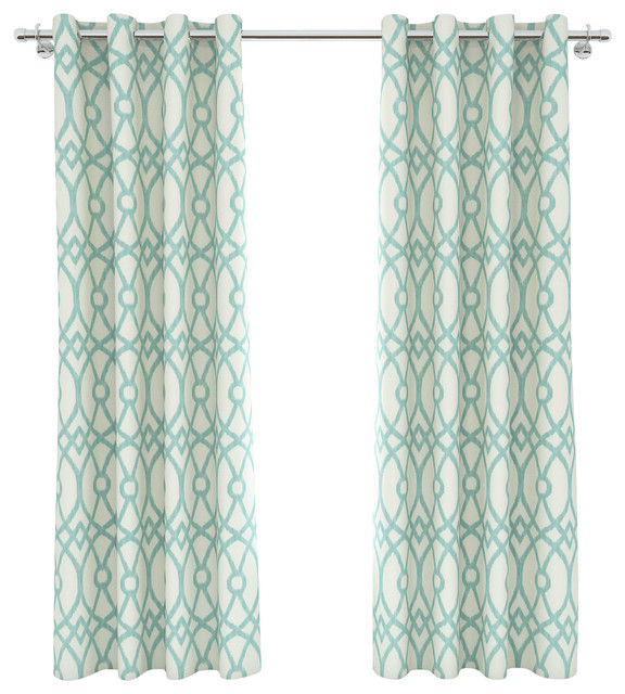 Curtains Ideas 54 curtain panels : Colorfly Piper Grommet Curtain Panels, Set of 2, Aqua, 54