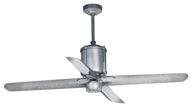 Industrial Looking Ceiling Fans : Machine age galvanized ceiling fan industrial