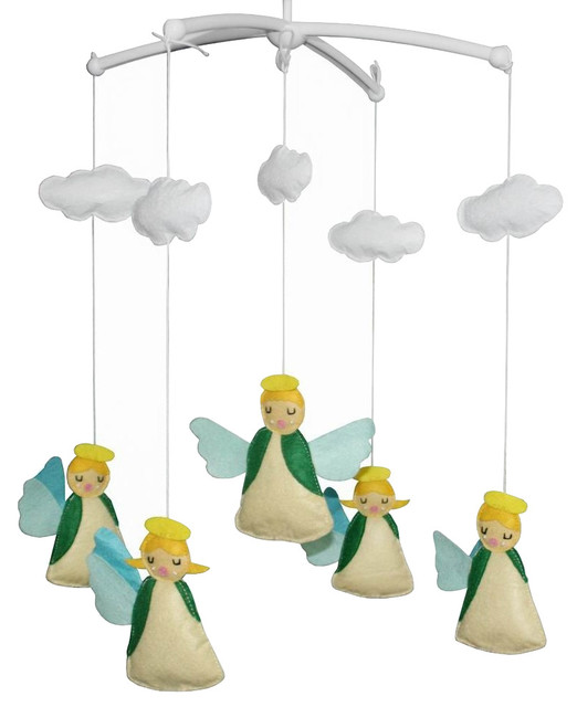 happy angel creative crib mobile handmade baby crib musical mobile contemporary baby. Black Bedroom Furniture Sets. Home Design Ideas