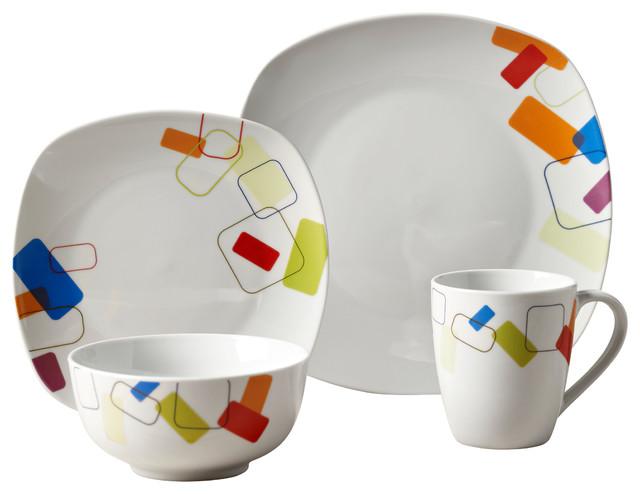 Soho 16-Piece Dinnerware Set - Contemporary - Dinnerware Sets - by ...