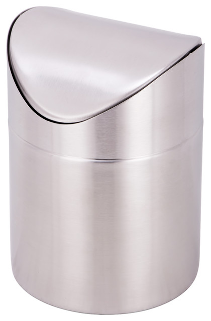 Estilo Mini Countertop Trash Can Brushed Stainless Steel  : contemporary trash cans from www.houzz.com size 420 x 640 jpeg 28kB