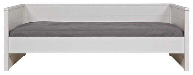 Lit sofa bois massif 90x200 blanc moderne canap lit for Canape 90x200