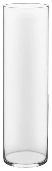 """Glass Cylinder Vase. 18"""", Open 5"""""""