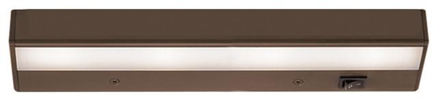 "WAC Lighting LEDme 12"" 120V Light Bar 2700K Warm White in Brushed Bronze"