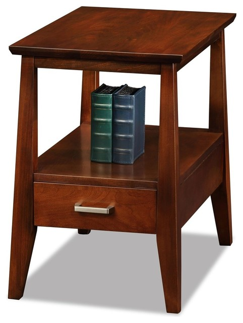 Leick Furniture Delton Solid Wood Square End Table Sienna