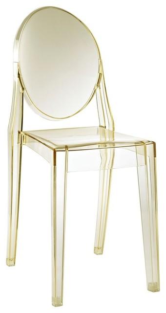 Modway Casper Dining Side Chair, Yellow.