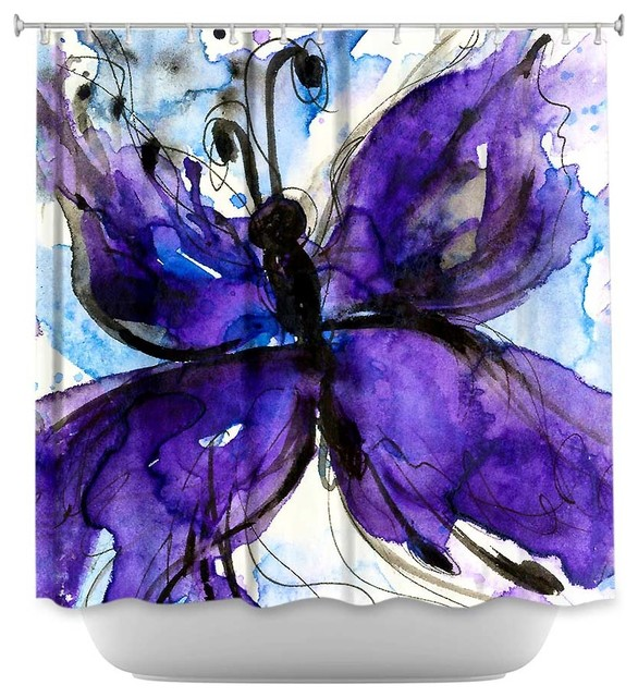 Shower Curtain Unique from DiaNoche Designs - Butterfly Song IV ...