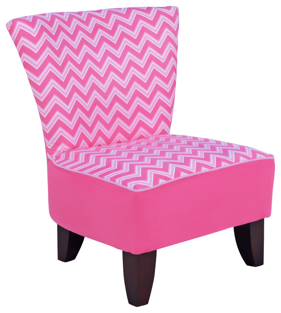 Tween Armless Chair Izzy Bubblegum With Bubblegum And
