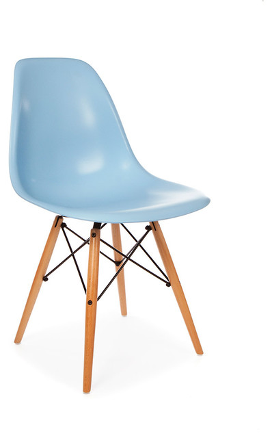 Molded Shell Eiffel Dining Side Chair, Blue