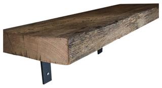 ... WoodWorks Reclaimed Barn Wood Shelf - Display And Wall Shelves   Houzz