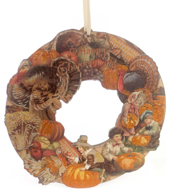 Thanksgiving Vintage Thanksgiving Wreath Wood Primitive Holiday Autumn 30320.