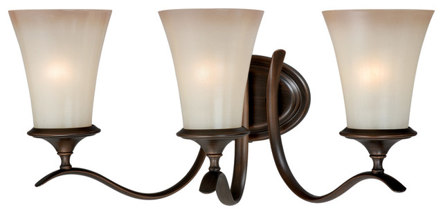 Vaxcel Sonora 3-Light Bathroom Light, Venetian Bronze