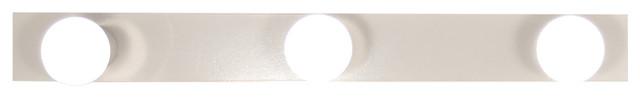 White Linear Wall Light, 3 Bulbs