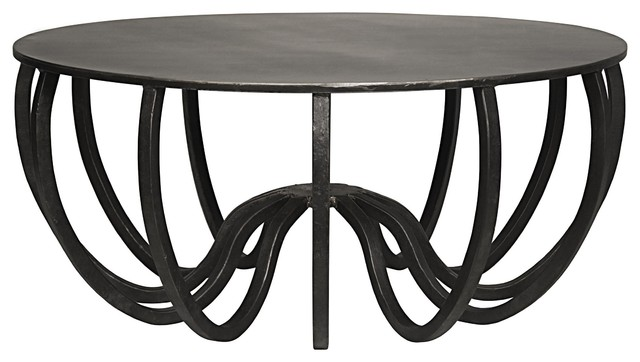 Pleasing 39 Round Coffee Table Solid Black Iron Metal Industrial Modern Rustic 148Lbs Gamerscity Chair Design For Home Gamerscityorg