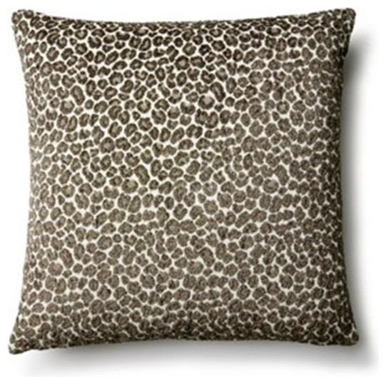 Zoe Cotton-Blend Pillow, Gray - Decorative Pillows - by Kathy Fielder Design Life Style