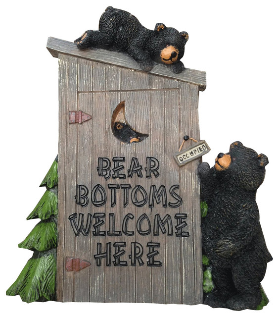 Decorative Wall Plaque Quot Bear Bottoms Welcome
