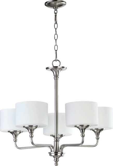Quorum Rockwood 5-Light Chandelier, Satin Nickel