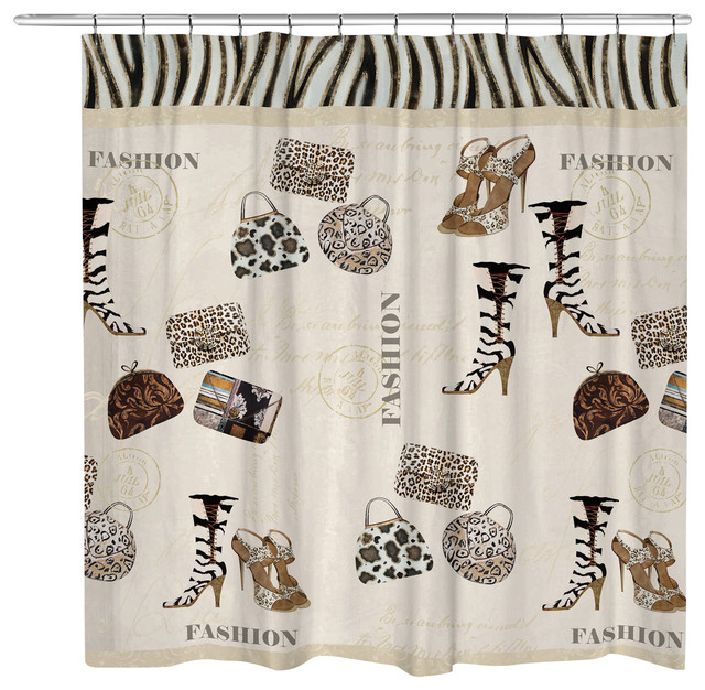 Wild for Fashion Shower Curtain - Contemporary - Shower Curtains ...