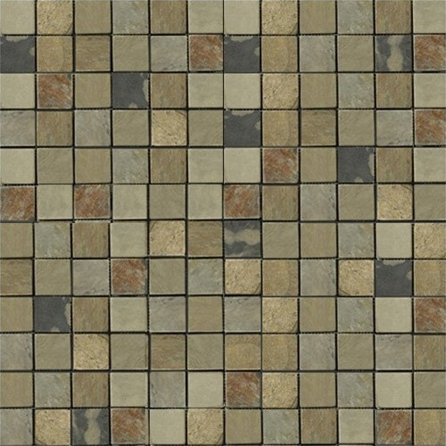 Indian Autumn Tumbled Slate Mosaic Tiles