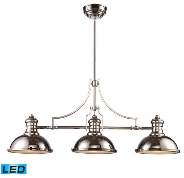 ELK Lighting Chadwick 3-Light Billiard, Antique Copper