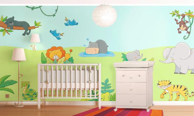 Giungla avventura camerette da sogno con gli adesivi - Idee camerette neonato ...